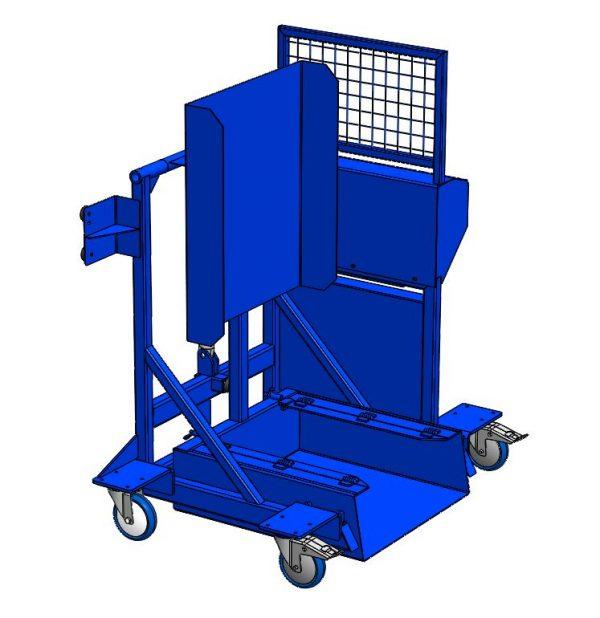 ADR MOB-XS mobiele kantelaar voor mini container 240 ltr.